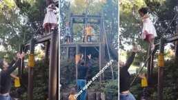 Hijas de Jacky Bracamontes demuestran que no le tienen miedo a las alturas