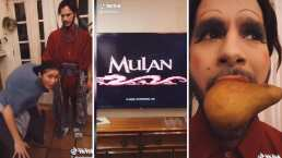 Sofía Reyes se disfraza de la abuelita de Mulán y recrea una escena de la película