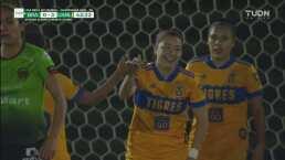 ¡Doble cañito! Katty Martínez anota el tercer gol para Tigres