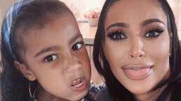 Muere de risa con las simpáticas interrupciones de North West a su mamá Kim Kardashian mientras intenta dar un discurso