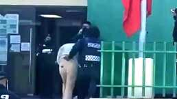 Eleazar 'N' aparece, como cualquier interno, con uniforme del reclusorio durante audiencia