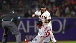 Doble play de escuela por parte de los San Francisco Giants