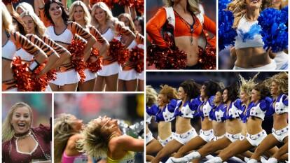 El show de las Cheerleaders es imperdible en los partidos del futbol americano de la NFL.