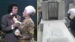 VIDEO: Restauran la tumba de la mamá de José José antes de su llegada a México