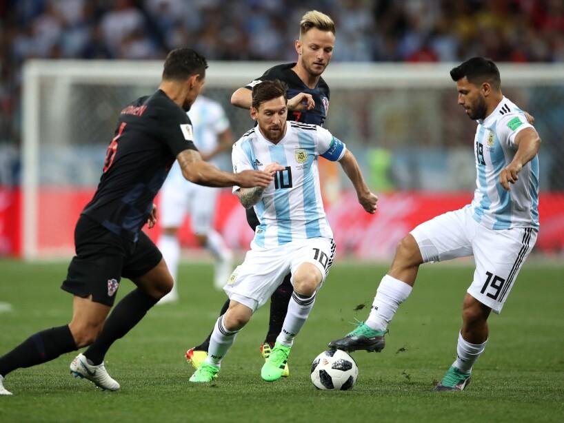 Argentina vs Croacia, en imágenes