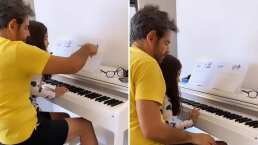 Alessandra Rosaldo espía a Aitana y a Eugenio Derbez y se conmueve al verlos practicar con el piano