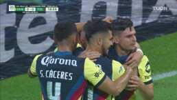 ¡Error de Luis García y Federico Viñas aprovecha para el 1-0!