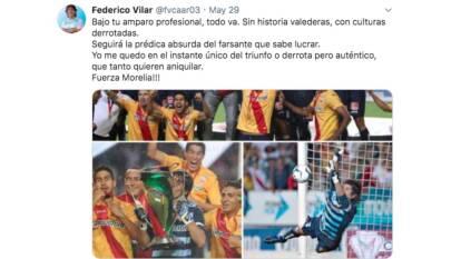Federico Vilar lamentó la partida de Monarcas de Morelia y recordó algunas glorias que vivió con el equipo.
