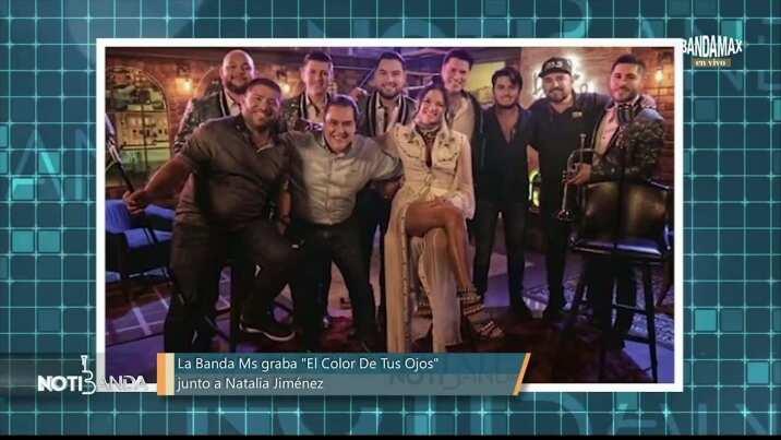 Banda MS y Natalia Jiménez graban 'El Color de tus Ojos'