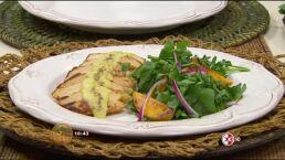 RECETA: Ensalada de berros y durazno con pollo estilo César