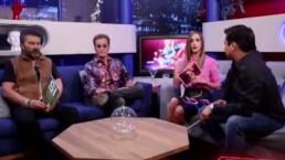 Emmanuel, Mijares y Julión Álvarez en los retos con Olivia Peralta