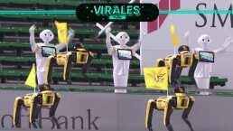 ¡Porristas robot! Así el apoyo a equipo de béisbol