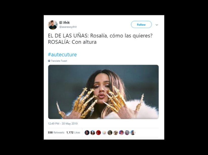 Memes de uñas de Rosalía