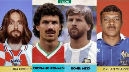 Así se verían las figuras del futbol actual en una época antigua.