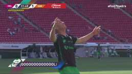 ¡Gol de Santos! Jesús Ocejo aprovecha el error y marca el 0-1