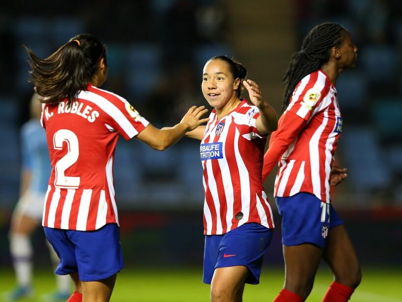 Con gol de la mexicana, las colchoneras empatan a un gol y esperan el partido de vuelta en casa.