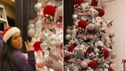Con chocolate caliente y villancicos, Inés Gómez Mont pone el árbol de Navidad junto a sus hijos