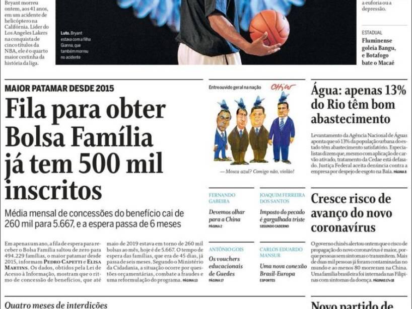 Kobe Bryant, periódico, O GLOBO.jpg