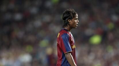 Giovani dos Santos inició en las filiales del FC Barcelona en España.