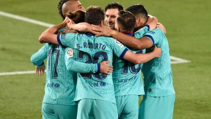Con goles de Luis Suárez, Antoine Griezmann, Ansu fati y un autogol de Pau López, el Barcelona golea al Villarreal en su casa.
