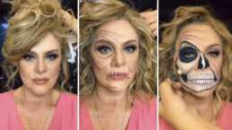 Al ritmo de 'Thriller' Erika Buenfil impacta con un maquillaje 'de miedo'