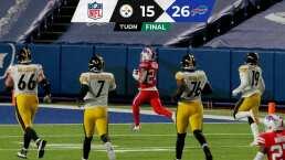 Steelers suelta la cima de AFC con derrota ante Bills