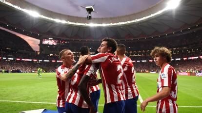 Sufrida victoria del Atlético al minuto 90 del partido.