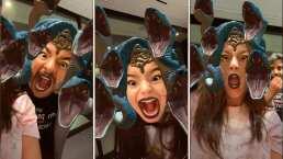 'Eso sí me asustó': Así reaccionó Aitana Derbez al ver a sus papás usar un filtro de serpientes