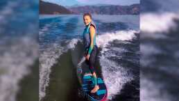 Angelique Boyer presume su talento con la tabla al practicar esquí acuático