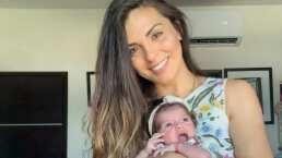 Ale Rivera, 'La Jarocha', sufre pequeño incidente con el pañal de su bebé y se lleva una sorpresita
