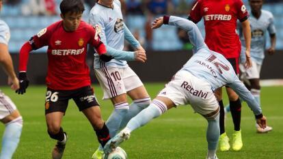 Celta de Vigo no puede con un Mallorca que se queda con 10 hombres al minuto 78 y el partido termina en empate, por lo que cada equipo se lleva un punto a casa. Araujo presente los 90 minutos.
