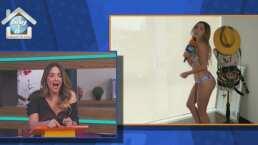 """Andrea Escalona deja a sus compañeros de """"Hoy"""" con la boca abierta al verla cantar en bikini"""
