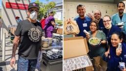 Machete dona la comida de su restaurante a los médicos y enfermeras que luchan contra el Covid-19
