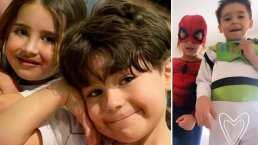 Los hijos de Michelle Renaud y Ariadne Díaz enternecen por su gran amistad; ahora disfrazados de superhéroes