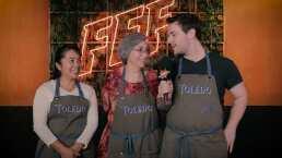 Los Toledo aprendieron mucho y se divirtieron al preparar salchichas de jabalí