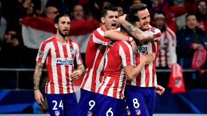 El Atlético de Madrid vence al campeón de Europa, Liverpool, 1-0 con un tanto de Saúl Ñíguez en la ida de los octavos de final.