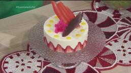 RECETA: Mousse de chocolate blanco con fresas