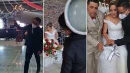 '¡El gaaas!': Padrino de boda se viraliza tras regalarle a los novios un tanque de gas