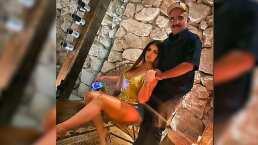 """Vicente Fernández Jr. conquista a su novia con divertido baile """"Qué bien baila este hombre"""":"""