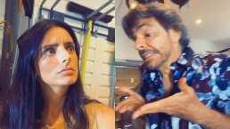 Este es el video en el que Aislinn y Eugenio Derbez imitan a Bibi y a Junior P. Luche
