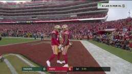 ¡Impresionante actuación de Mostert! Un acarreo de 36 yardas para TD