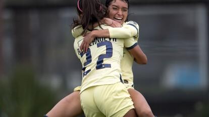 ¡Partidazo en Coapa! Duelo de poder a poder entre el América y las Guerreras del Santos Femenil que nos deleitó con una feria de goles.