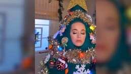 A Katy Perry no le interesa poner su árbol de Navidad, ella prefiere 'SER' el árbol