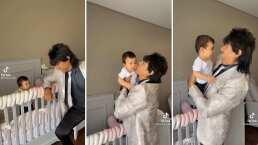 El Vítor saca a bailar a su bebita con divertido merenguito
