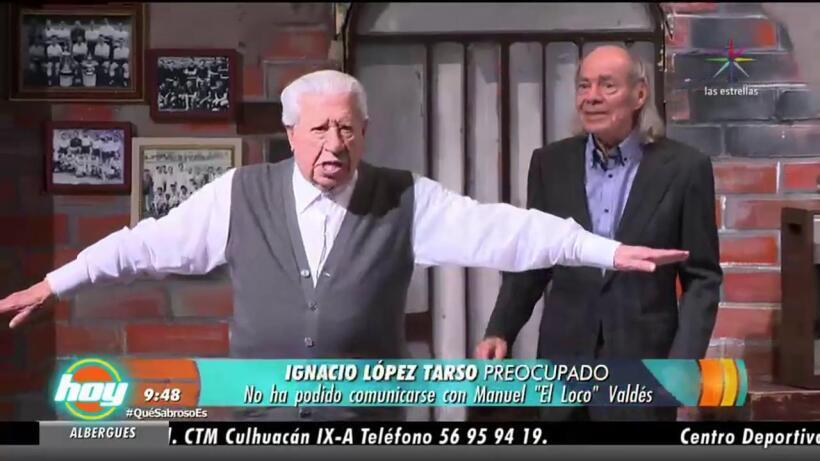 """Ignacio López Tarso preocupado por Manuel """"El Loco"""" Valdés"""