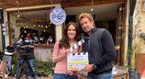 En fotos: Eva Cedeño y Gabriel Soto arrancan grabaciones de su nueva telenovela