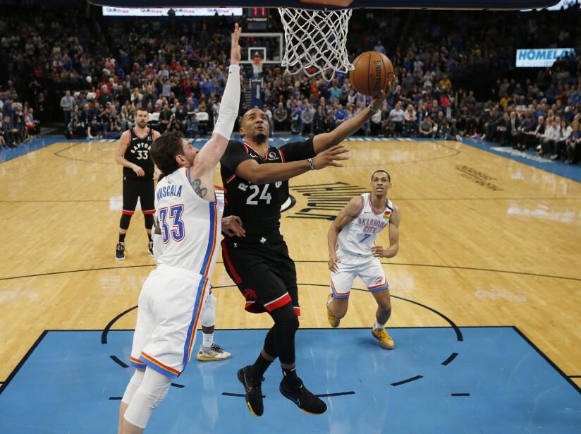 Oklahoma City Thunder 121-130 Toronto Raptors