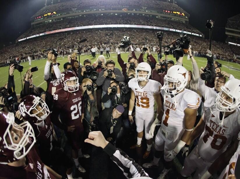 CORRECTION Texas Texas A M Resume Rivalry Football