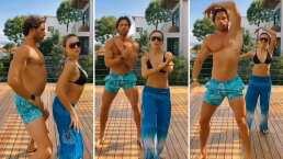 Angelique Boyer y Sebastián Rulli presumen la gran sincronización que tienen como pareja en el baile