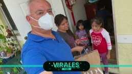 Luis Omar Tapia hizo una bonita donación a familia mexicana